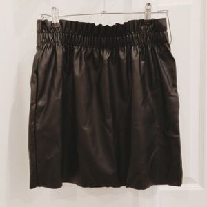 Trendy H&M Faux Leather Mini Skirt